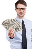 Smart and rich. Royalty Free Stock Photo
