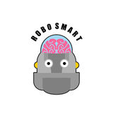 Smart robot. Emblem of Biomechanics of  human brain. Logo for in Royalty Free Stock Photos
