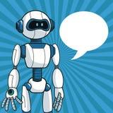 Smart robot futuristic technology bubble speech Stock Photography
