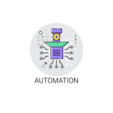 Smart Robot Machinery Industrial Automation Industry Production Icon Royalty Free Stock Images