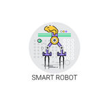 Smart Robot Machinery Industrial Automation Industry Production Icon Stock Image