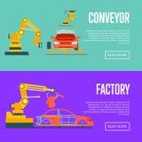 Smart robotic automotive assembly line Royalty Free Stock Photography