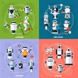 Smart Robots Concept vector illustration