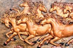 Smart running horse. Sculpture relate Stock Image