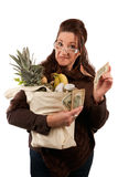 Smart Savvy Grocery Shopper Stock Photos