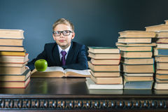 Smart school boy has a great idea! Stock Images