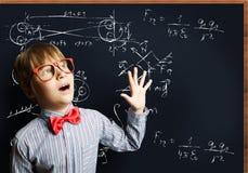 smart schoolboy Fotografering för Bildbyråer