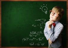 Smart schoolboy stock photos