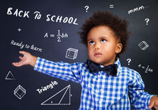 Smart schoolboy portrait Stock Photos