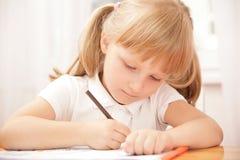smart schoolgirl arkivfoto