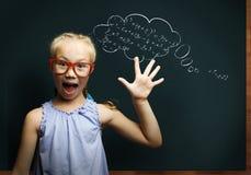 Smart schoolgirl Stock Photography