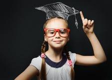 Smart schoolgirl Stock Images