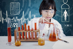 Smart scientist doing research Royalty Free Stock Image