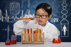 Smart scientist doing research Stock Photo