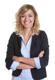 Smart secretary with blue blazer Royalty Free Stock Photos