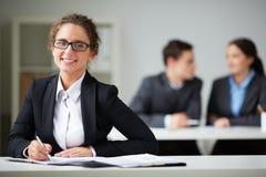 Smart secretary Royalty Free Stock Photo