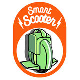 Smart Self Balancing Electric Scooter emblem Royalty Free Stock Photo