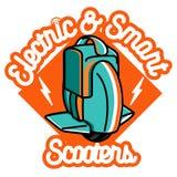 Smart Self Balancing Electric Scooter emblem Stock Photo