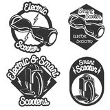 Smart Self Balancing Electric Scooter emblems Royalty Free Stock Images