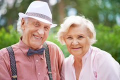 Smart seniors Royalty Free Stock Photo