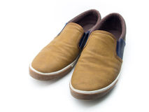 Smart shoes. Man smart casual leather shoes Royalty Free Stock Photos