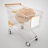 Smart shopping. Concept and advanced 3d model render Stock Photos