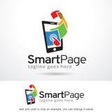 Smart sida Logo Template Design Vector Royaltyfria Foton
