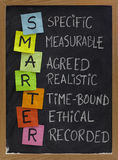 Smart (smarter) goal setting stock images