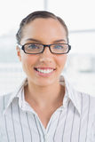 Smart smiling businesswoman with glasses Royalty Free Stock Images