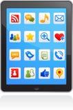 smart social vektor för symbolsmedeltelefon royaltyfria foton