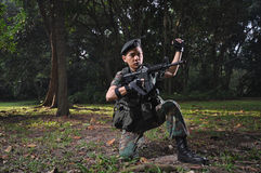 Smart Soldier Defending The Country Royalty Free Stock Photos