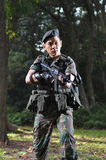 Smart Soldier Defending The Country Royalty Free Stock Photo