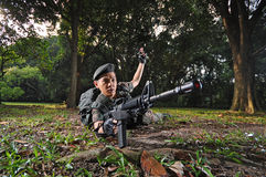 Smart Soldier Defending The Country Royalty Free Stock Image