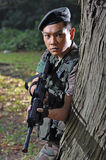 Smart Soldier Defending The Country Stock Photo