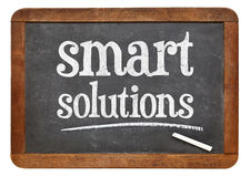 Smart solutions - blackboard sign Royalty Free Stock Images
