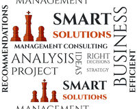 Smart solutions seamless pattern with management Stock Photo