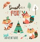Smart som en räv! royaltyfri illustrationer