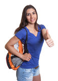 Smart south american student showing thumb up Royalty Free Stock Images