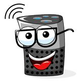 Smart speaker cartoon funny isolated. On white stock illustration