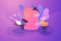 Smart speaker office controller vector creative concept illustration. stock illustration