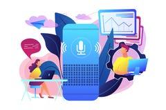 Smart speaker office controller concept vector illustration. stock illustration