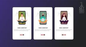 Smart speaker, voice command device royalty free illustration