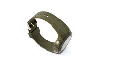 Smart sport black digital wristwatch Royalty Free Stock Photo