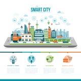 Smart stad royaltyfri illustrationer