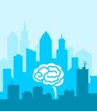 Smart stad stock illustrationer