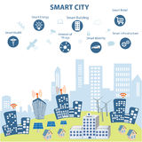 Smart stad och dess fördelar Royaltyfri Fotografi