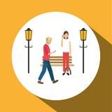 Smart stadsdesign Social massmediasymbol begrepp isolerad teknologiwhite royaltyfri illustrationer
