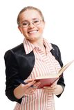 Smart student with book Stock Photos