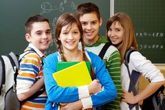 Smart students Royalty Free Stock Photos