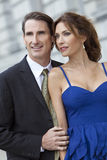 Smart Successful Man and Woman Couple Royalty Free Stock Images